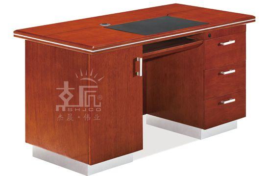 经典双柜实木电脑桌