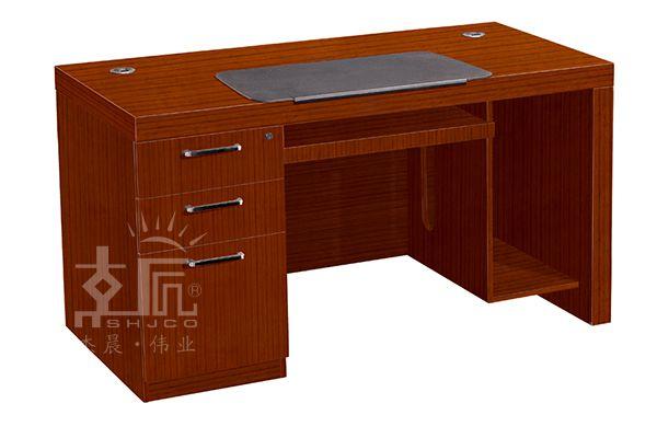 经典双柜实木电脑桌-HF0314