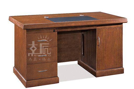 经典双柜实木电脑桌-DF0414