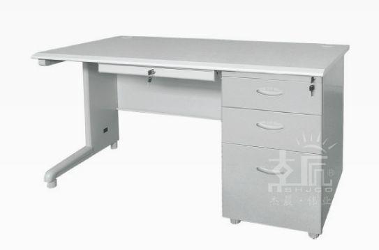 三斗带键钢制办公桌-gzzh002