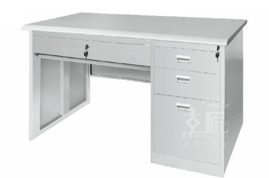 四斗钢制办公桌-gzzh004