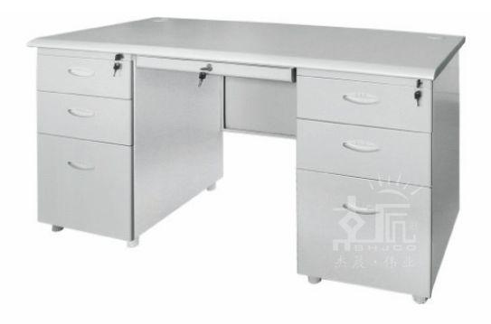 六斗带键钢制办公桌-gzzh005