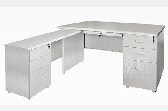 拐角六斗钢制办公桌-gzzh008