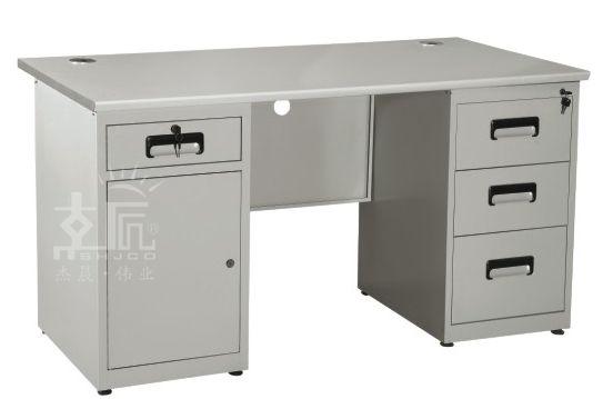 四斗一门钢制办公桌-gzzh012