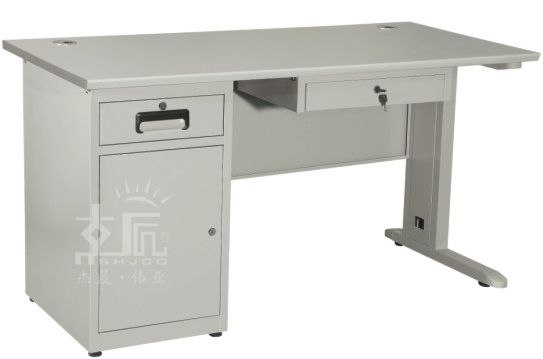 二斗一门钢制办公桌-gzzh015