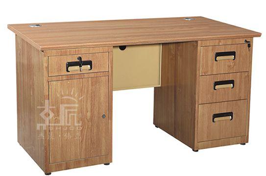 四斗一门木纹钢制办公桌-gzzh016