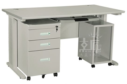 三斗一柜钢制办公桌-gzzh020