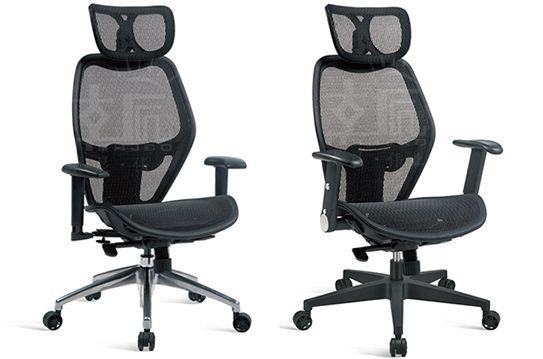 电脑网布椅-现代大班椅-经理椅-WBJLY007