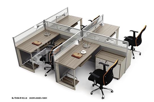 今越系列屏风办公桌-PFW030