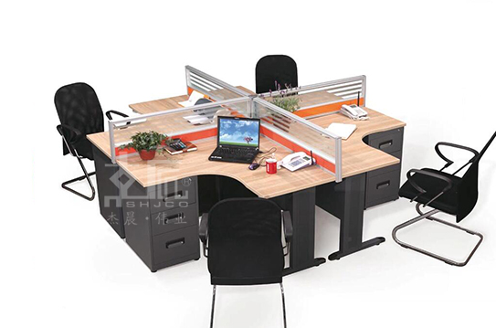 暖风系列屏风办公桌-PFW031