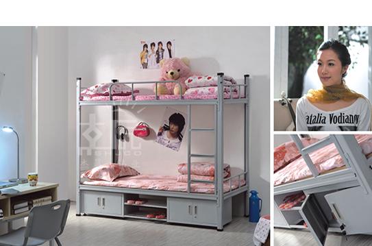 带柜上下双人公寓床-GYC007