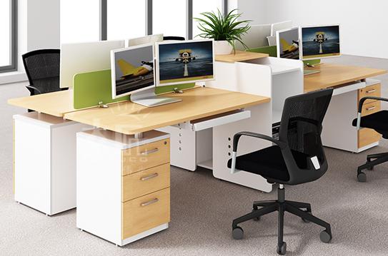 枫木色系列屏风办公桌-PFW032