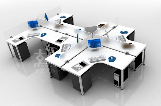 依云系列屏风办公桌-PFZ043