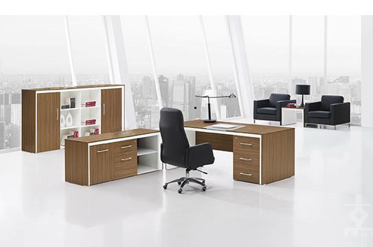 怡木板式办公桌-BSZ018