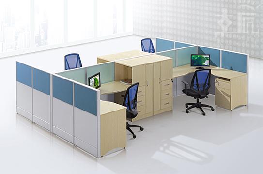 和岚屏风办公桌-PFZ056