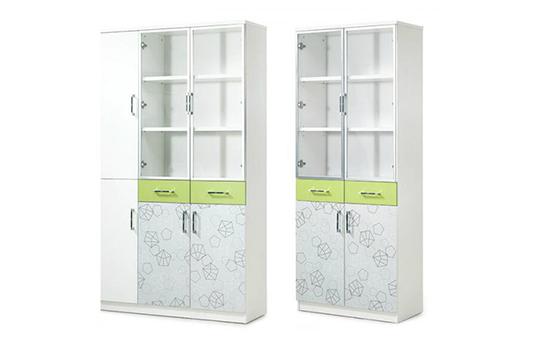 时尚玻璃门薄边组合文件柜-BBG001
