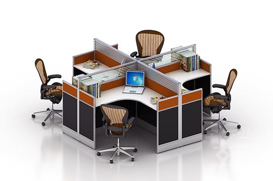 格勒屏风办公桌、屏风工作位-PFZ069