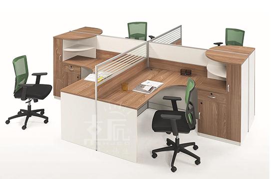 元雅屏风办公桌、屏风工作位-PFZ088
