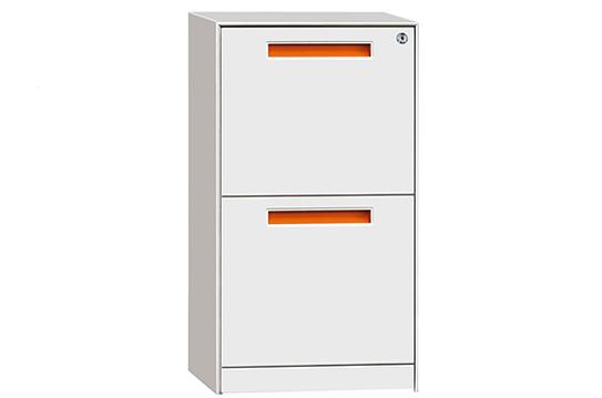 文件柜-封顶固定柜(两抽)-GDG002