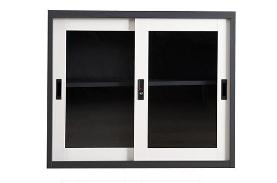 钢制文件柜-套色玻璃移门柜(矮型)