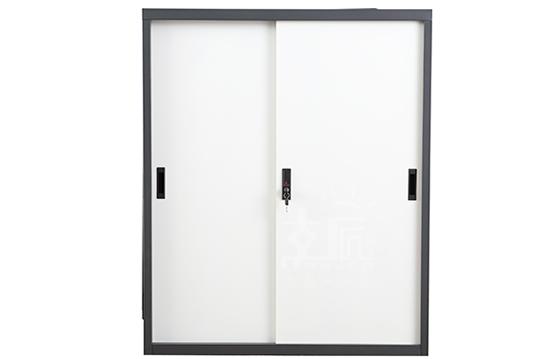 钢制文件柜-套色移门柜(三层)