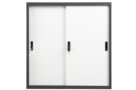 钢制文件柜-套色移门柜(方体)
