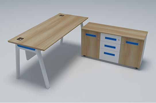 辉天板式办公桌-BSZ044