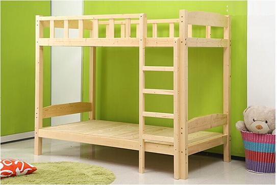 实木公寓床、实木双层床-(青春版)