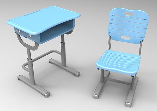 课桌椅-新款(蓝色)