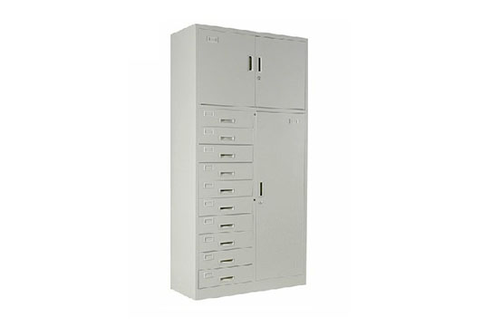 钢制文件柜-三门十斗柜