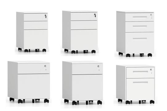 钢制文件柜-薄边活动柜