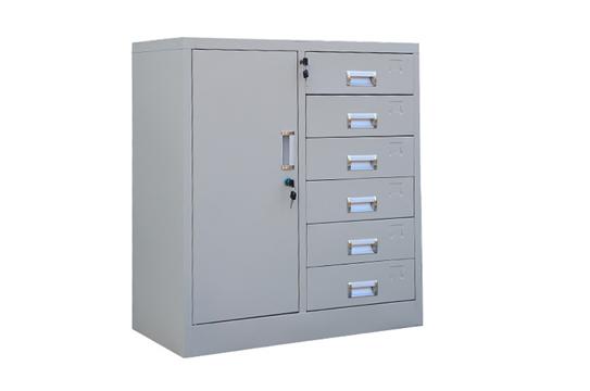 钢制文件柜-六斗单门柜