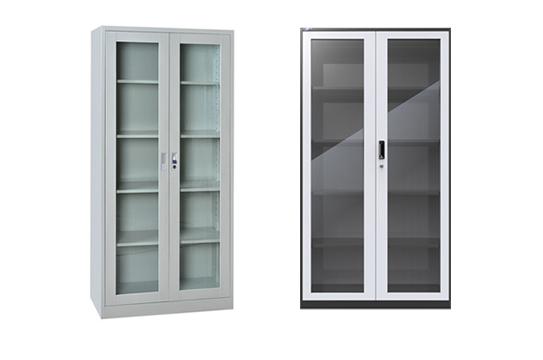 钢制文件柜-玻璃对开门柜