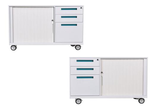 钢制文件柜—薄边组合卷门柜