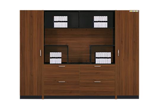 实木文件柜、书柜-GY002