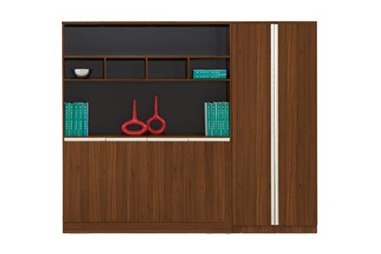 实木文件柜、书柜-GY003
