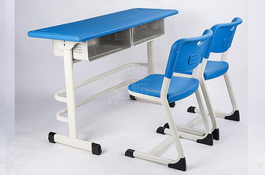 双人课桌椅-固定无升降
