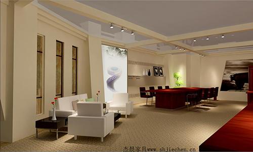典雅时尚高级办公空间方案H010
