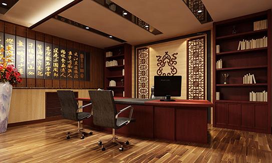 古色古香总裁办公室解决方案-ZCA008