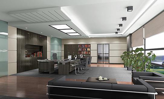灰白混搭管理办公室家具解决方案-GLA004